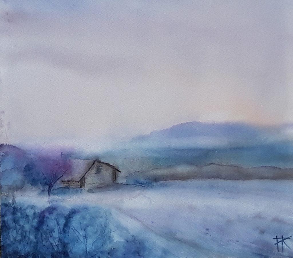 Sommarnatt i bergslandskap ©Anna Romdahl
